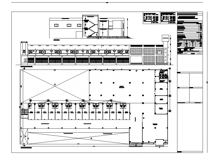 Commercial shopping centre working detail in dwg file.