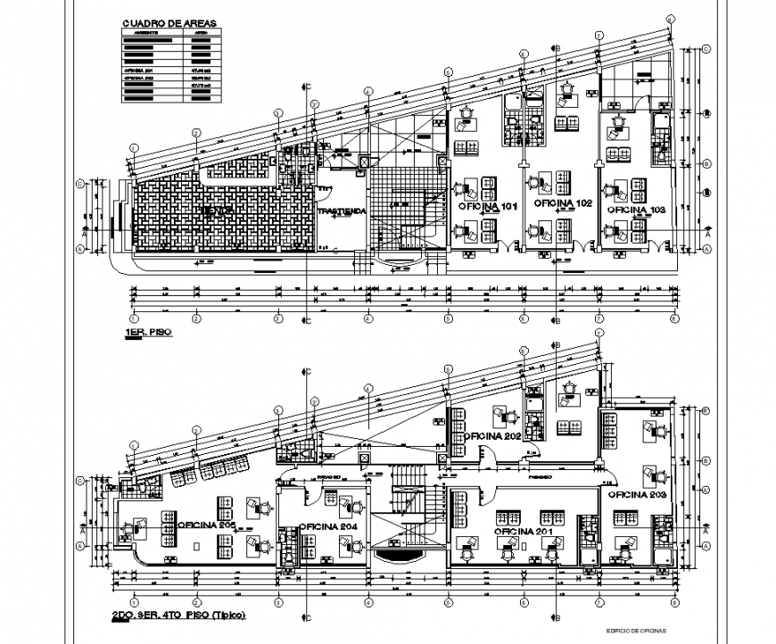 Commercial stores architecture plan layout file