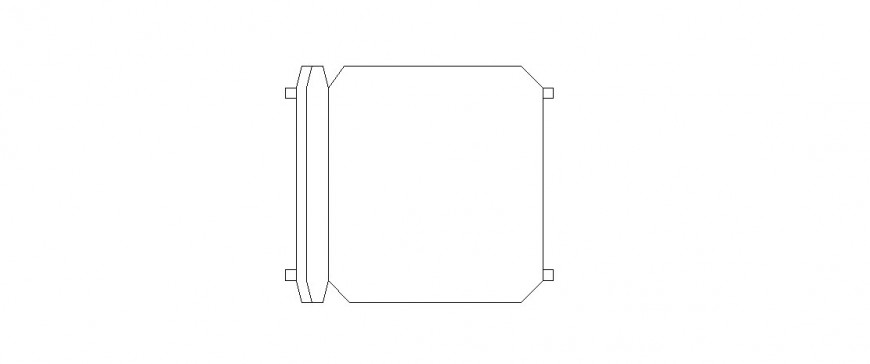 Common chair elevation block drawing details dwg file