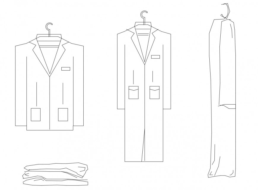 Common cloth elevation blocks cad drawing details dwg file