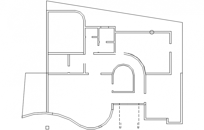 Common cover plan drawing details of modern villa dwg file