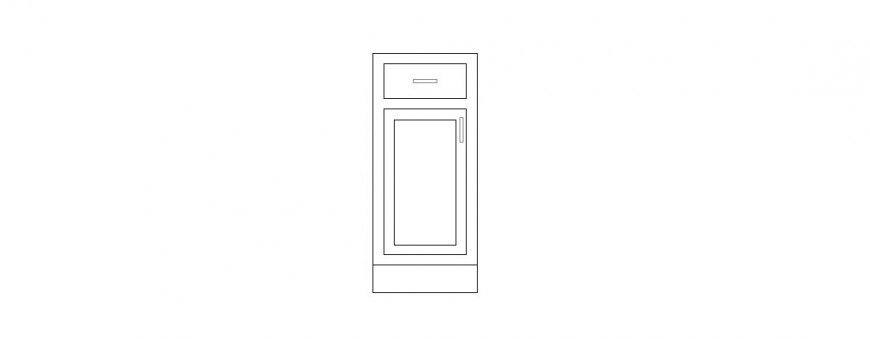 Common door front elevation cad drawing details dwg file