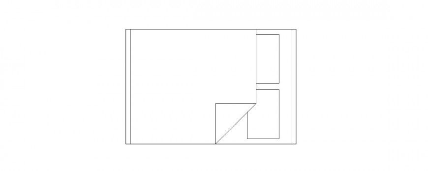 Common double bed elevation block cad drawing details dwg file