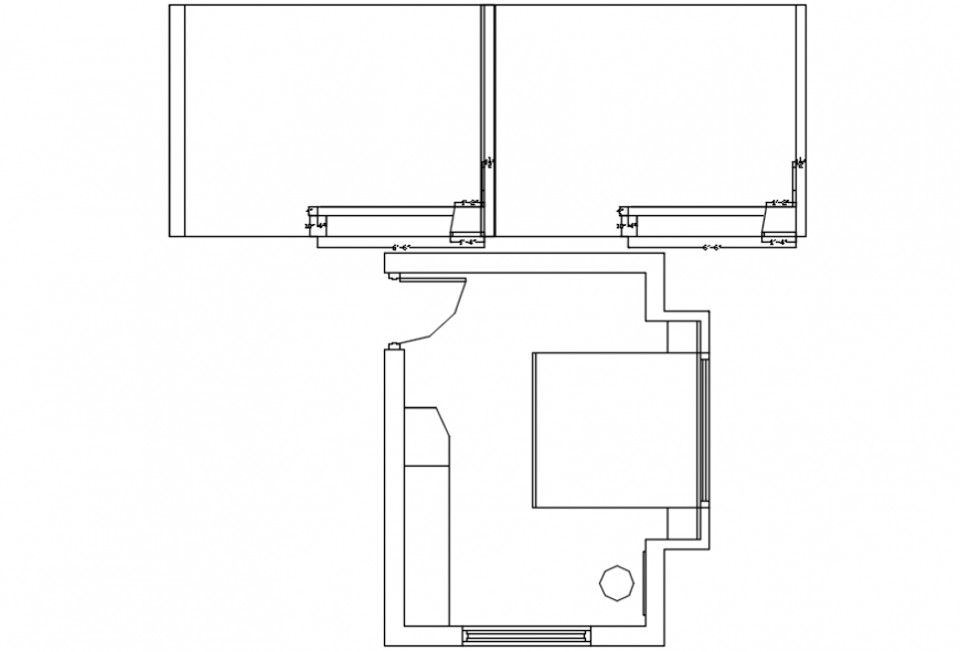 Common house bedroom layout plan cad drawing details dwg file