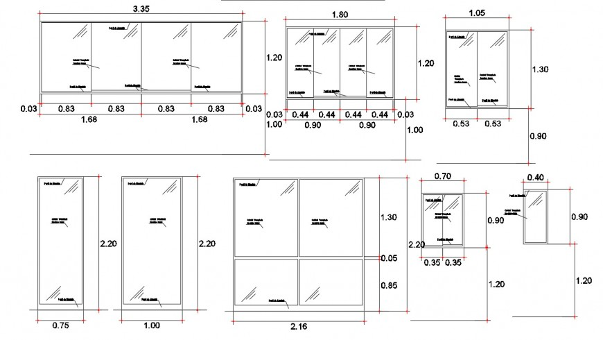 Common house doors and windows blocks cad drawing details dwg file