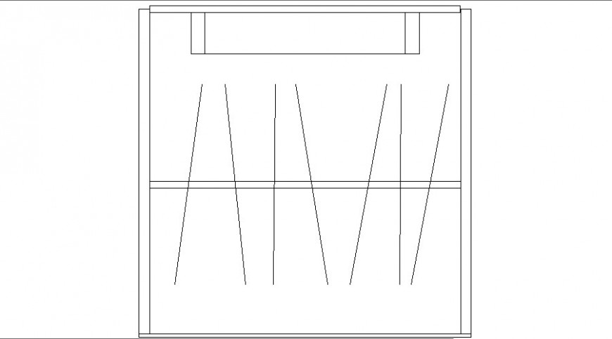 Common wardrobe hanger elevation block cad drawing details dwg file