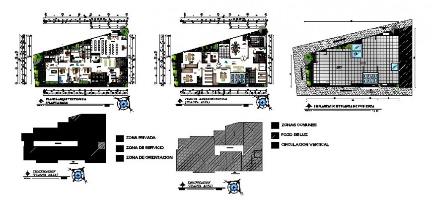Communal health center building working plan 2d drawing in autocad