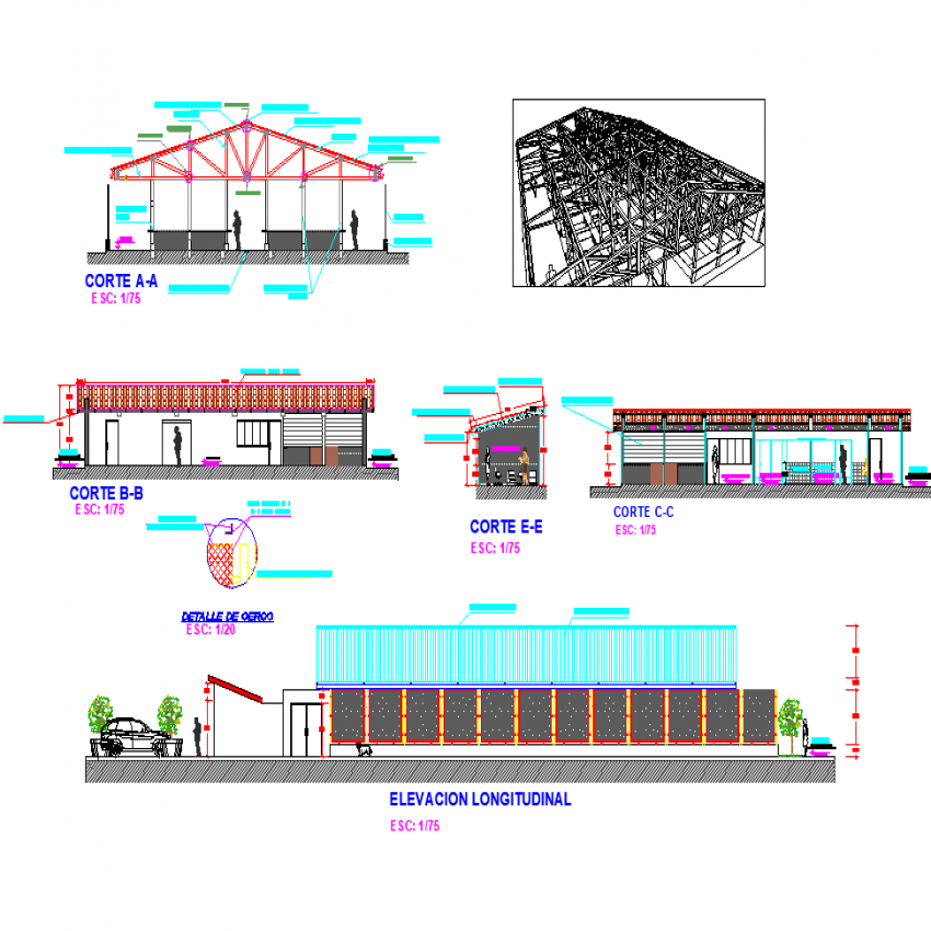 Community market plan detail dwg file.
