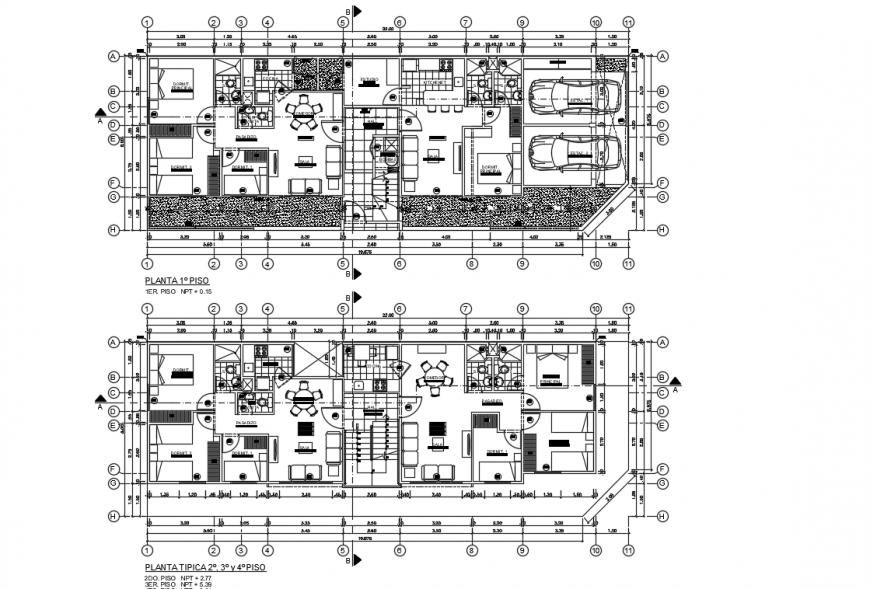 Complete furniture detailing layout plan detailing dwg file