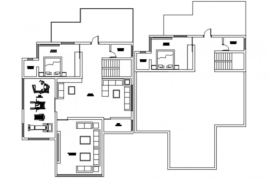 Complete modern house furniture plan