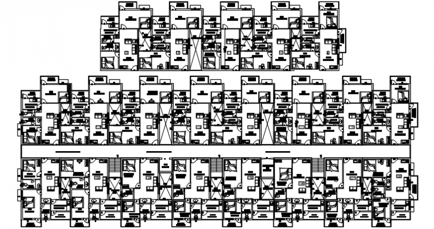 Complete view of all towers in apartment furniture detail