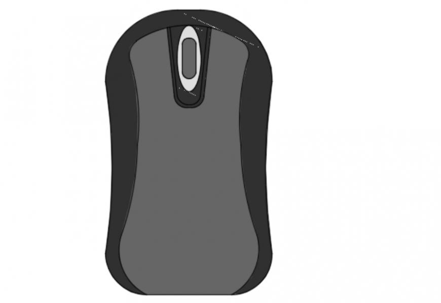 Computer mouse 2d detail