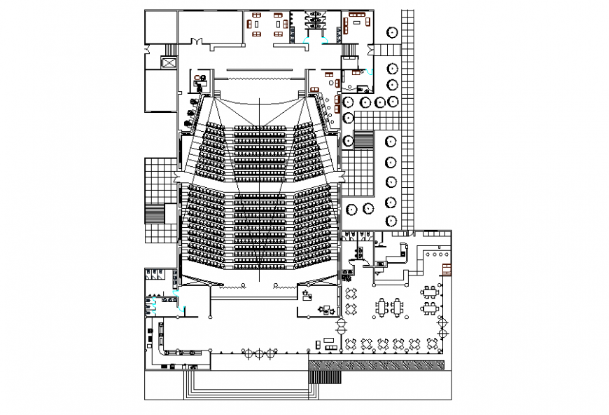 Concert Hall Architectural planing Lay-out design