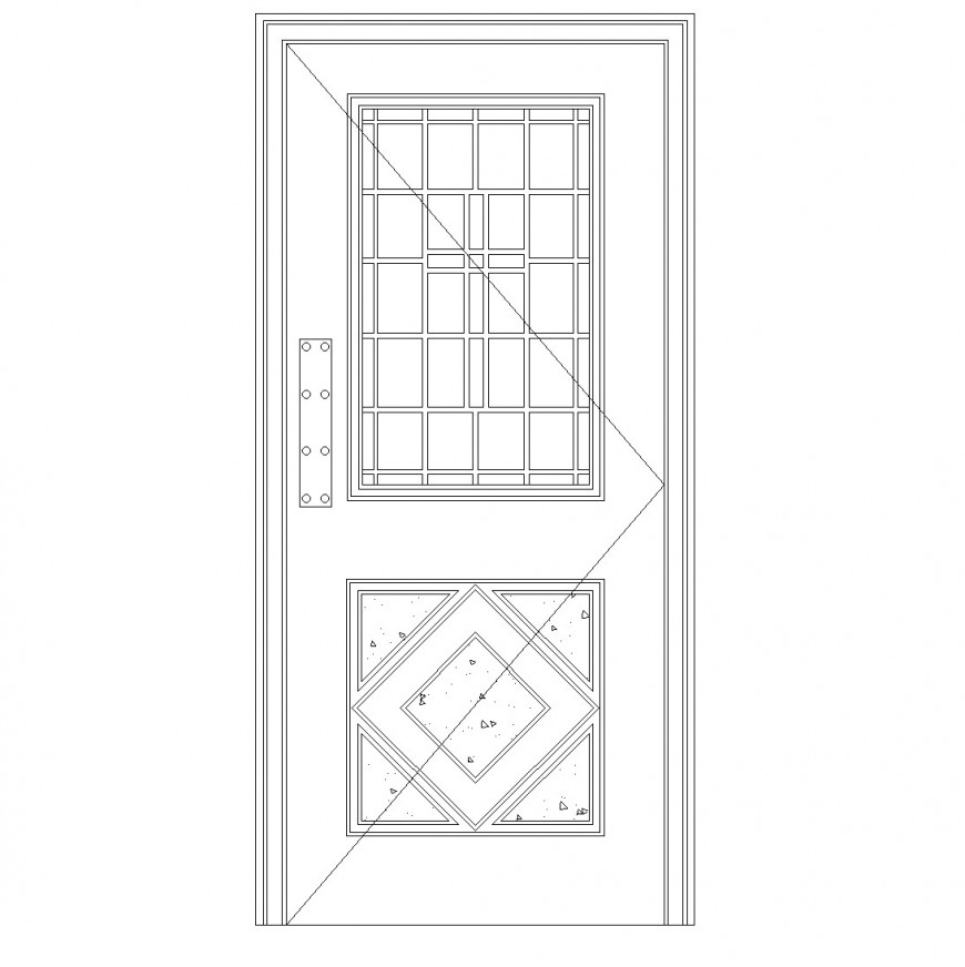 Concrete door cad blocks autocad file
