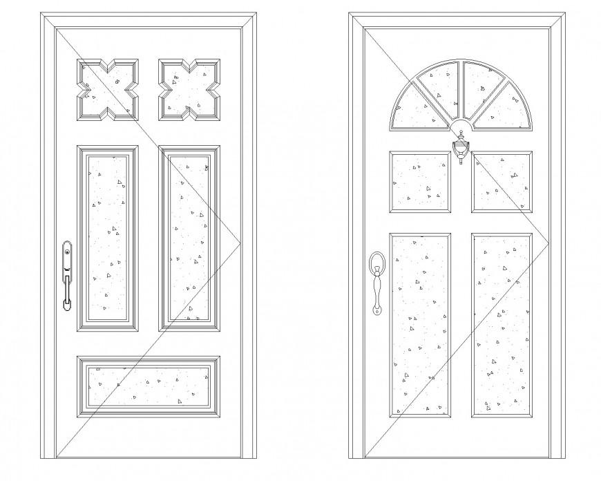 Concrete door cad blocks plan autocad file