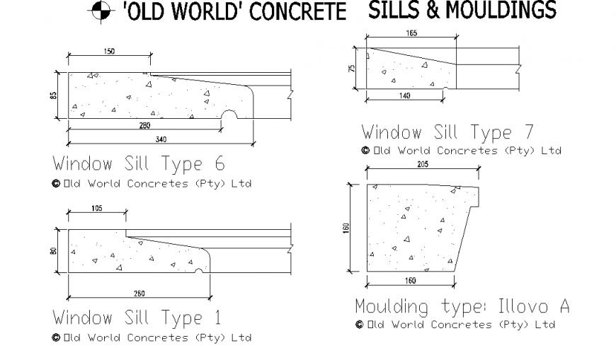 Concrete Sill & Mouldings Detail