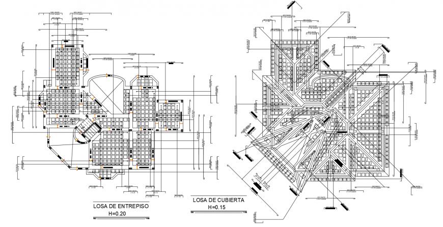 Concrete slab enterprise and cubic era plan dwg file