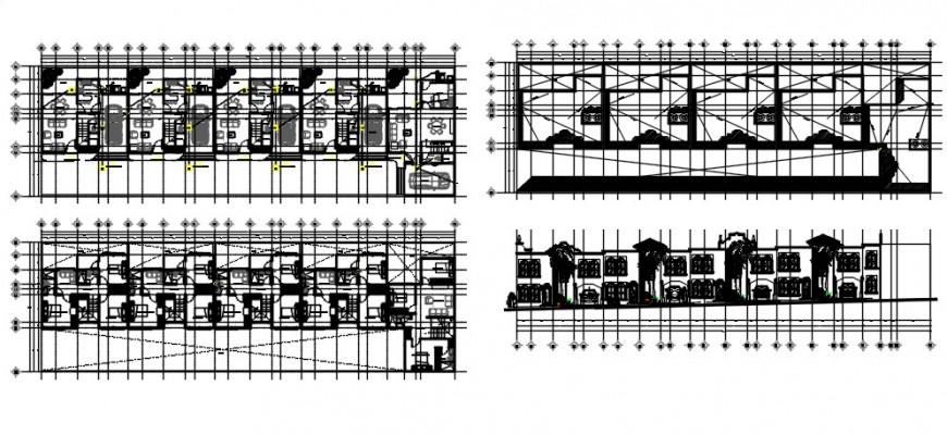 Condominium apartment building distribution plan cad drawing details dwg file