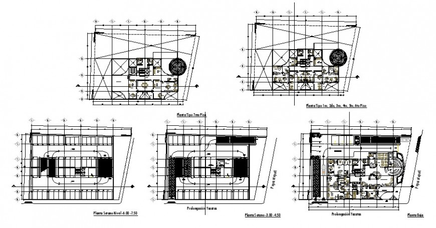 Condominium office building floor plan cad drawing details dwg file