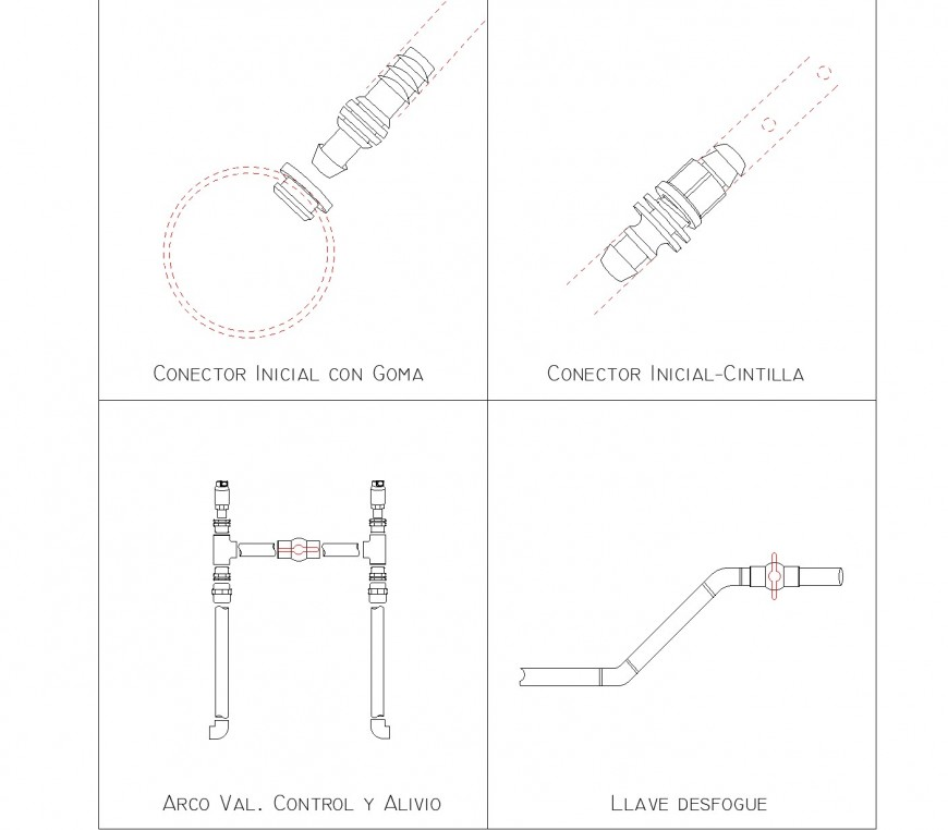 Connections x drip irrigation system layout file