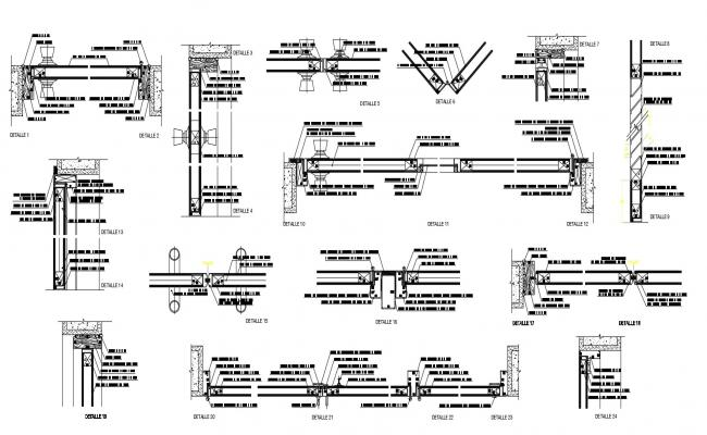 construction detail of furniture in dwg file