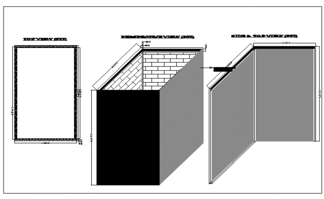 construction detail of wall dwg file