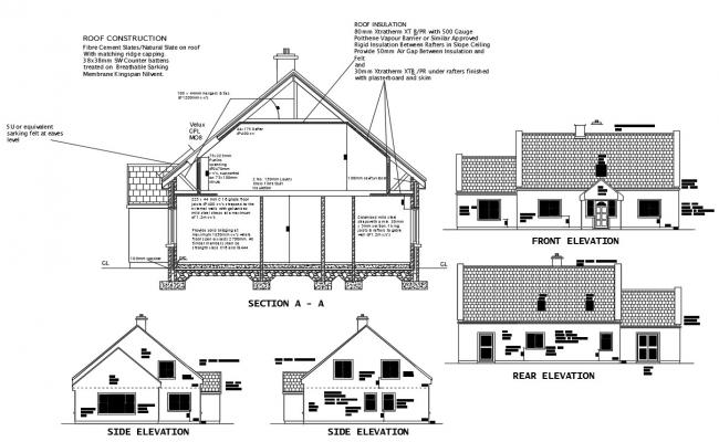 Construction House Plan DWG File