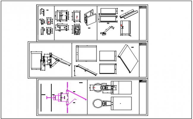 construction instrument plan detail dwg file
