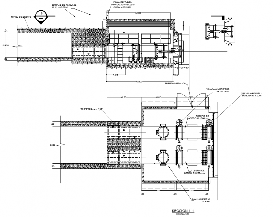 Construction detail drawing of the hospital in dwg AutoCAD file.
