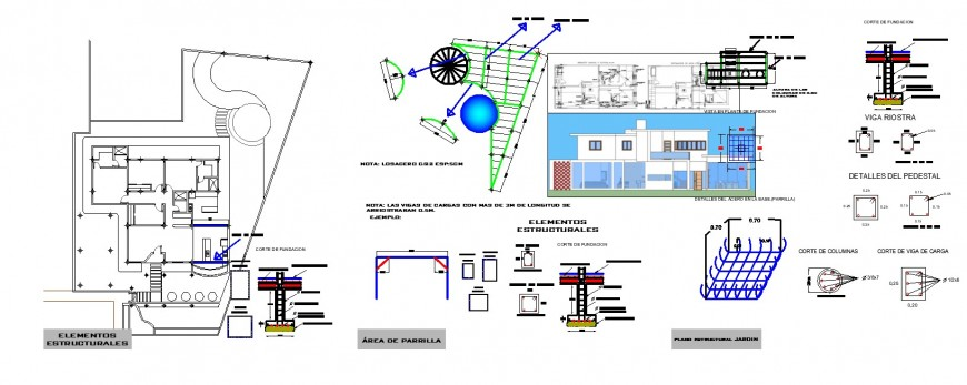 Construction house detail in dwg AutoCAD file .