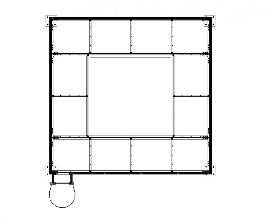 Construction lab line plan detail elevation layout file