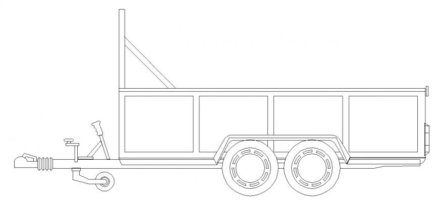 Construction Materials Dump Vehicle  Block Design