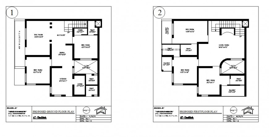 Construction plan of housing structure 2d view layout autocad file