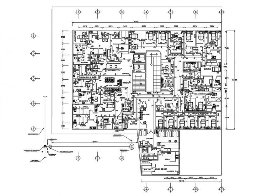 Contact hospital architecture layout plan cad drawing details dwg file