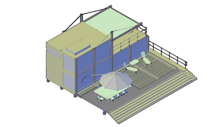 Container housing details 3d model autocad software file