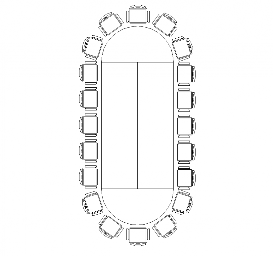Contemporary conference table detail elevation layout file