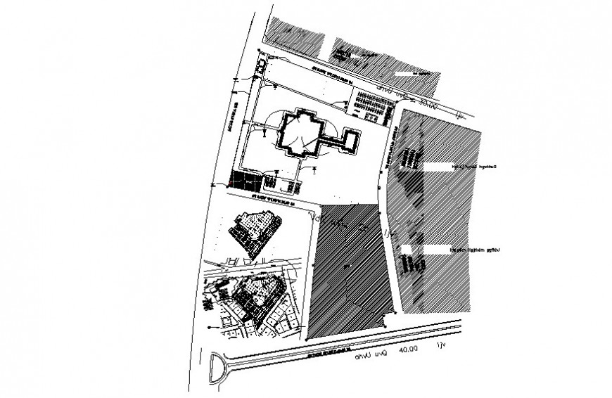 Contour landscaping details detail drawing in autocad