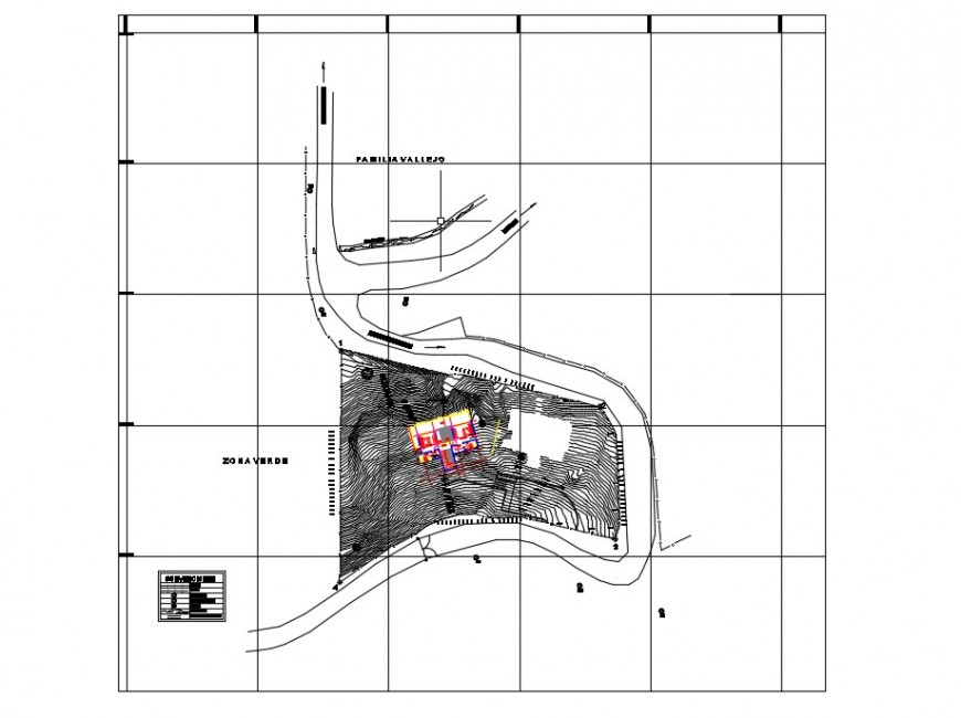 Contour planning area drawings detailing 2d view dwg file