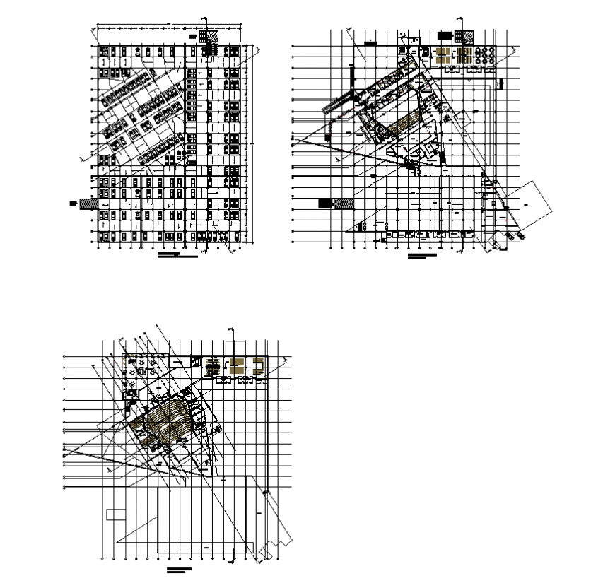 Convention center and parking detail plan layout file