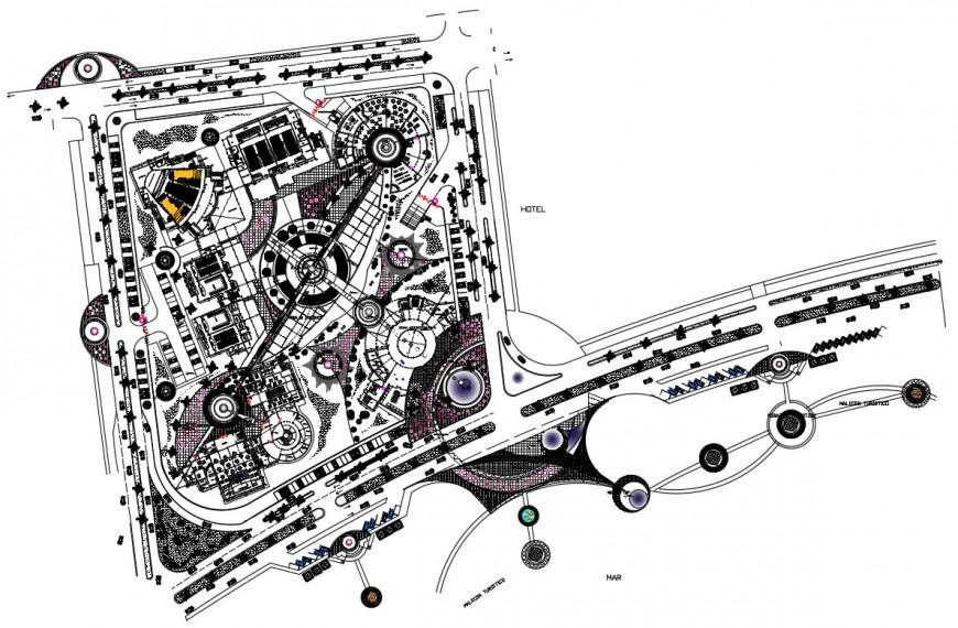convention centre project detail cad file