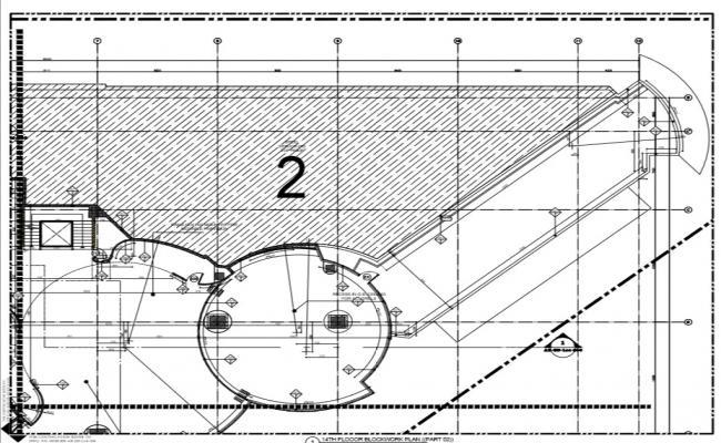 corporate building architectural detail plan,