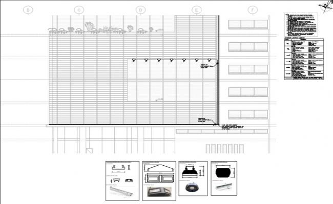 corporate building exterior led lighting detail layout