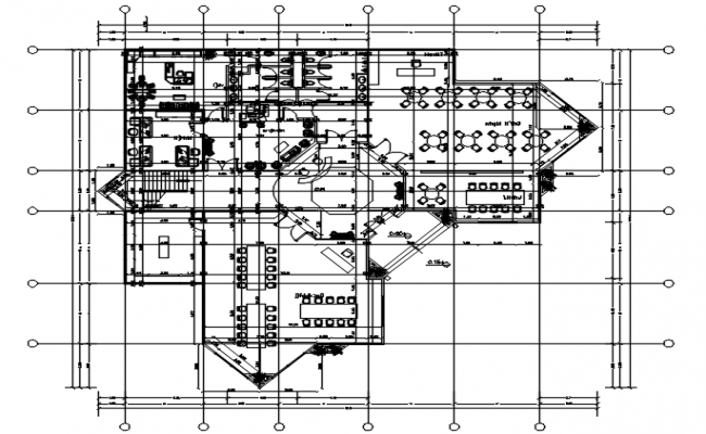 corporate office layout in dwg file
