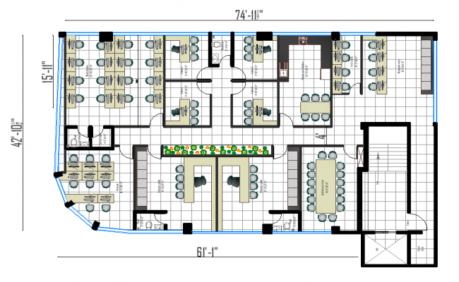corporate office plan dwg file