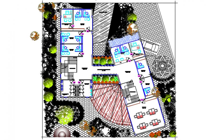 Corporate building architecture plan details