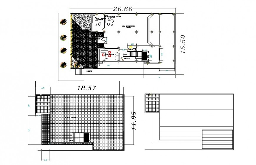 Corporate building distribution and structure plan cad drawing details dwg file