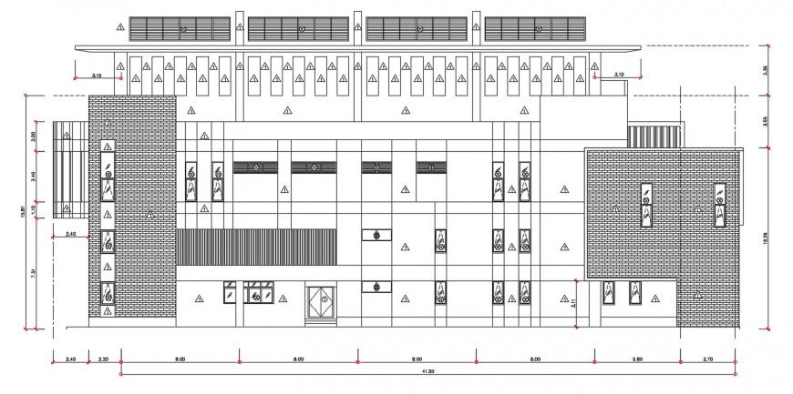 Corporate building elevation design cad file