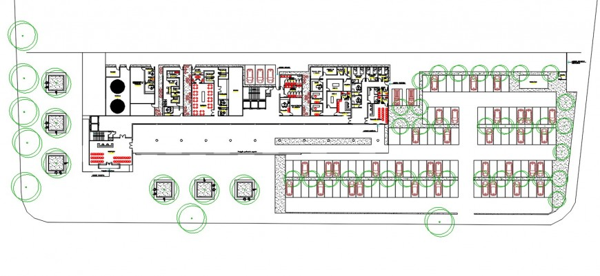 corporate building floor detail cad file
