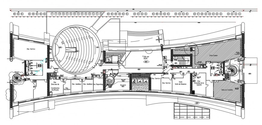 corporate building layout plan cad file