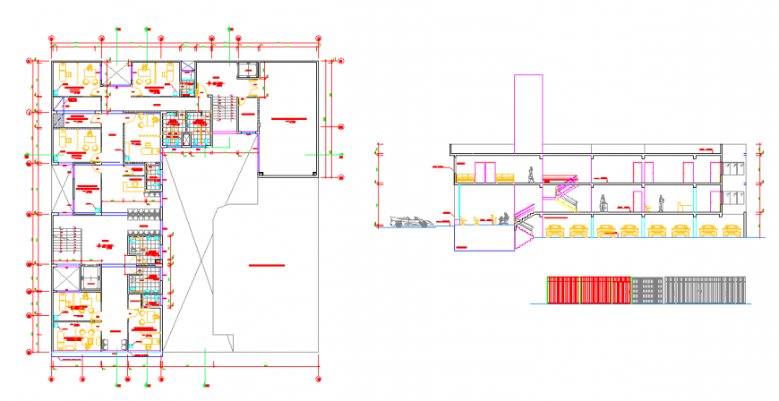 Corporate Building Plan & Section Detail.